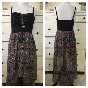 Hi-Low Chiffon Corset Dress